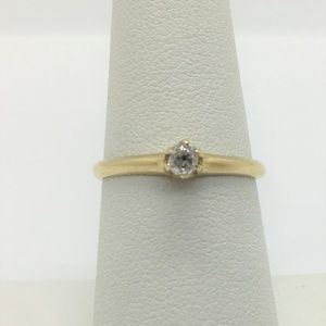 Jewelry - 14k Gold and .12ct Diamond Engagement Ring Size 7